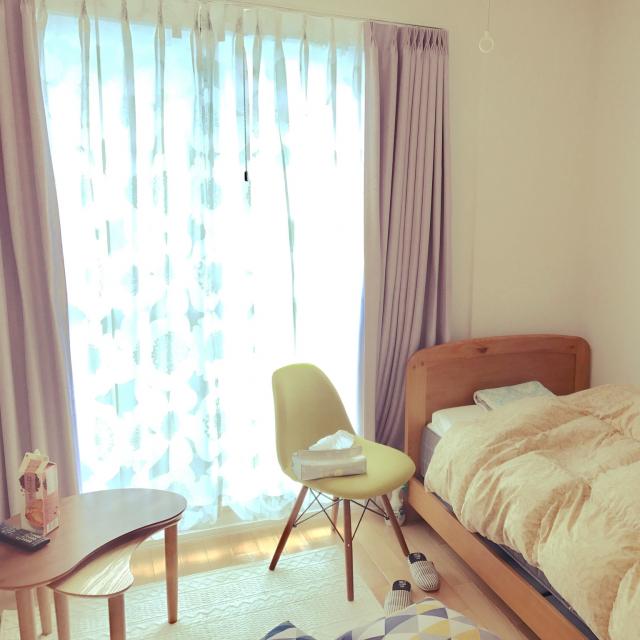 「24m2。カラーでアソブ白い部屋◎自分色で作る1Kの楽しみ方」 by awaさん