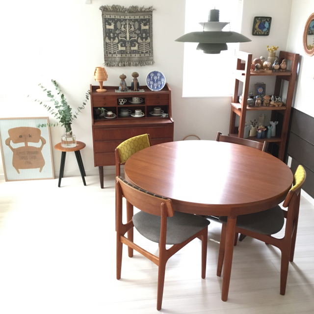 モダンインテリアで楽しむ☆味わいのあるヴィンテージ家具