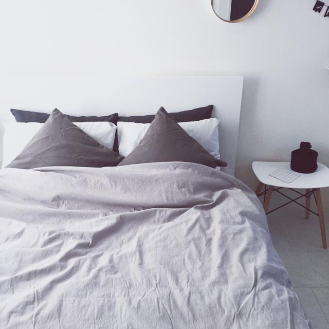 ニトリと無印良品の寝具で、心地良い寝室に♪