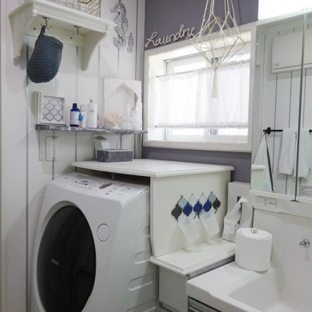 美しく使いやすくカスタマイズ♪洗濯機まわりのDIY特集