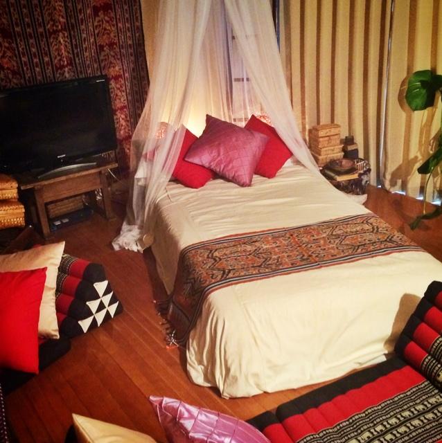 バリ風ベッド