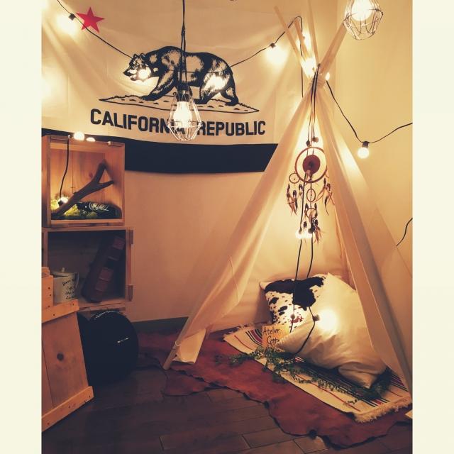 ワクワクのプライベート空間を!お部屋にテントのあるインテリア