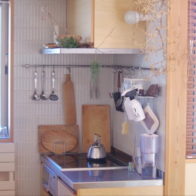 「基地キッチンで快適◎カスタマイズできるハンガーシステム」 by sugomoliさん