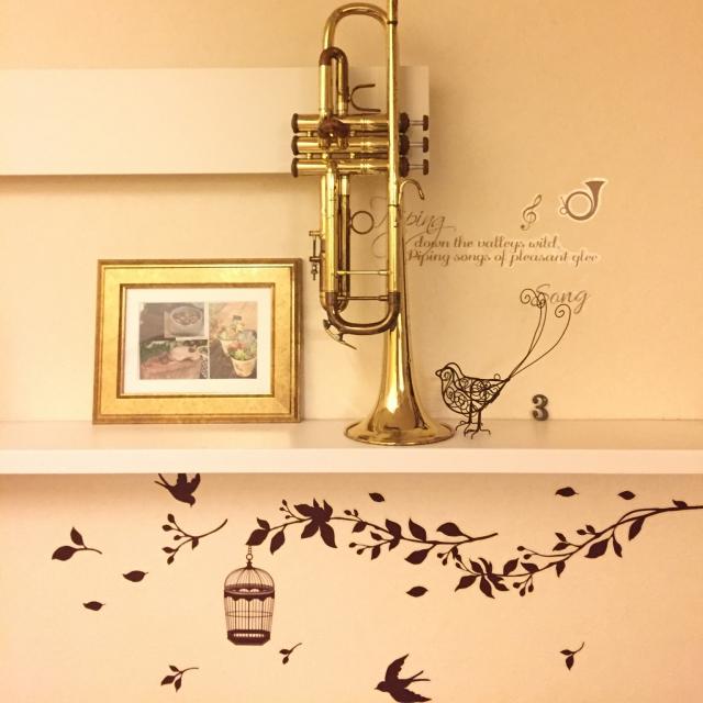 壁から小物まで☆セリアのウォールステッカーでお手軽DIY