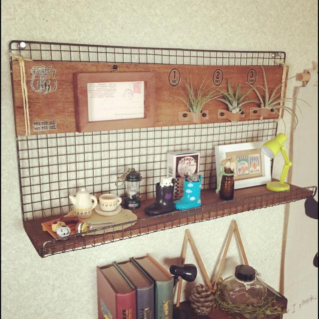飾り棚にもなる♪プチプラ「エアープランツホルダー」by Harukaze_plus_25さん