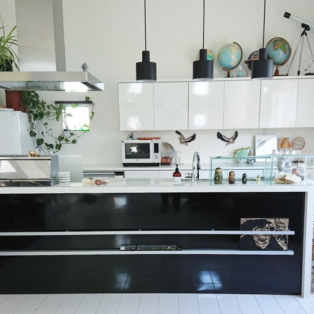 「料理・書類・知的好奇心◎全てまかなうシンプルモダンキッチン」 by wgmnh097さん