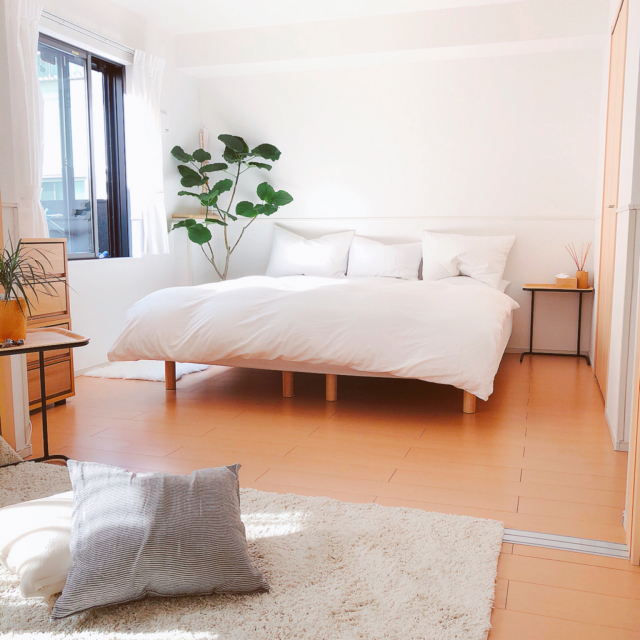 無印良品のベッドでぐっすり眠る♡心地よさと癒しの寝室へ