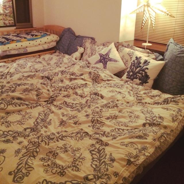 blueさんのベッドコーディネート