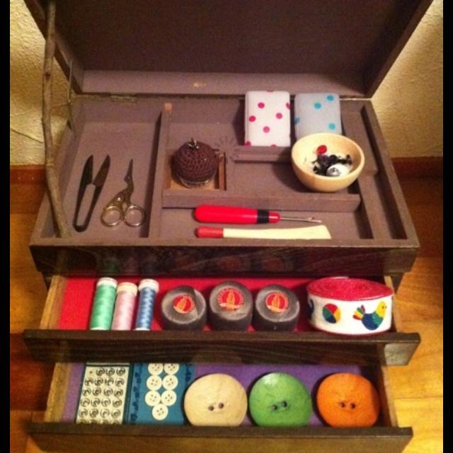 裁縫箱を飾り棚として使う!