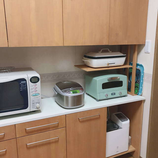 もっと使いやすく整然と!炊飯器や電子レンジの賢い置き方
