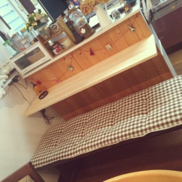 カラボでカウンターテーブル
