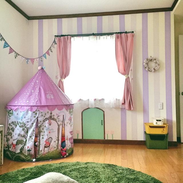Bedroomkatasuキッズテント子供部屋マステマスキングテープなど