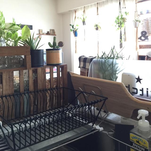 hirohiroさんの水切りカゴ&カッティングボード