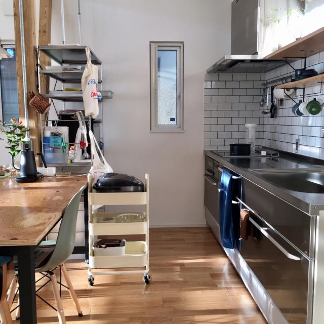 こんな風に使いたい☆暮らしに馴染むキッチンワゴン活用法