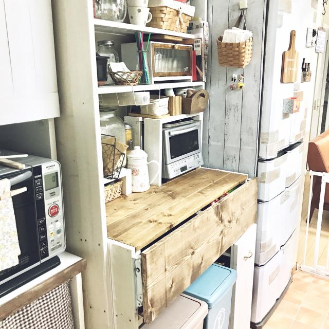 キッチンを快適化♪作業スペースを広くするアイデア