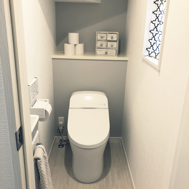 モノトーンインテリアで作る♡洗練されたトイレのコーデ例