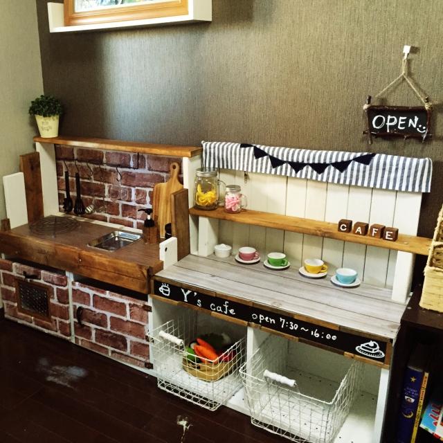 ままごとキッチン+カフェコーナー