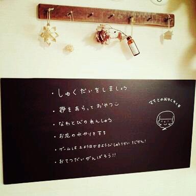 プラスチックダンボールの黒板DIY