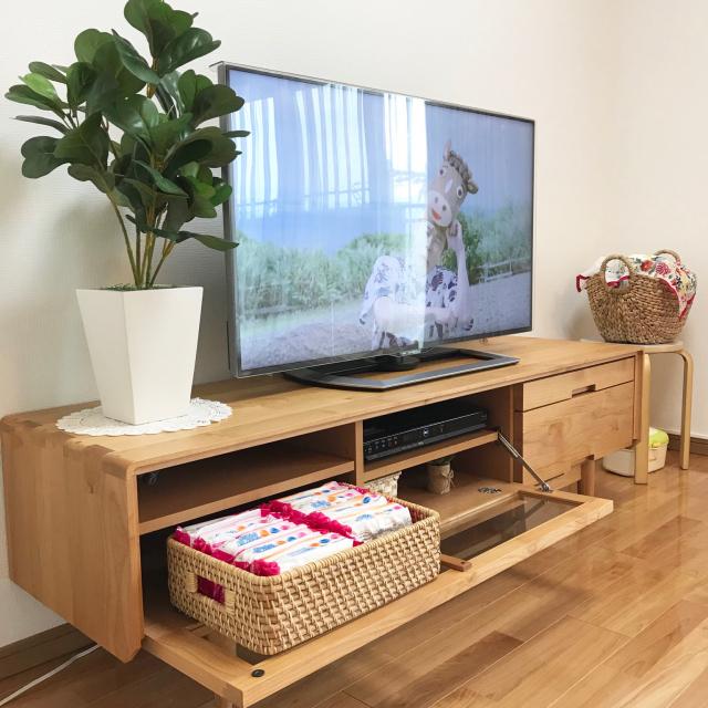 リビングの主役を便利に活用☆テレビ台の収納アイディア
