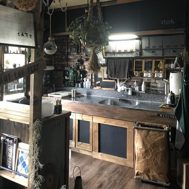 「築47年の団地をセルフリフォーム。好きが詰まったカフェ風空間」 by K-plus1さん
