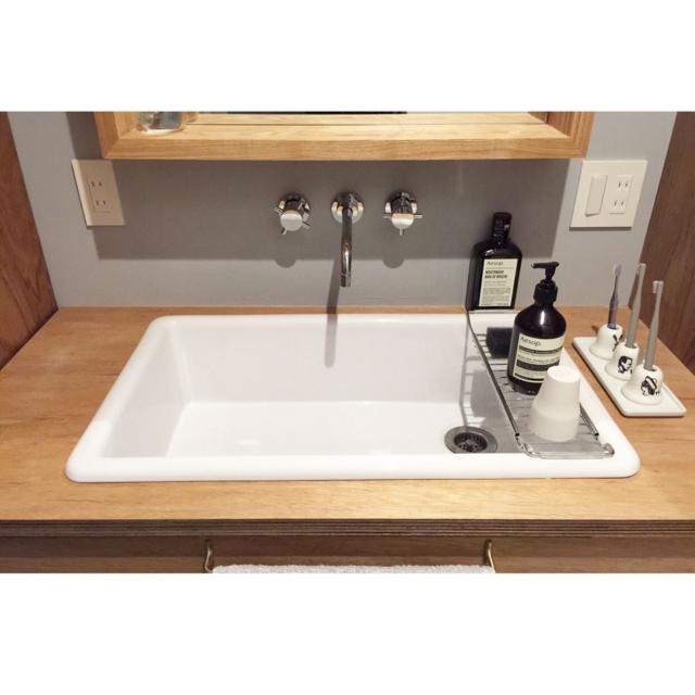 便利で清潔♪片付け上手なユーザーさん直伝の洗面所収納