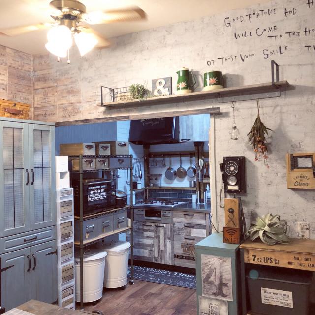 「自分の手で快適に◎団地で楽しむカスタマイズキッチン」 by eriri81さん