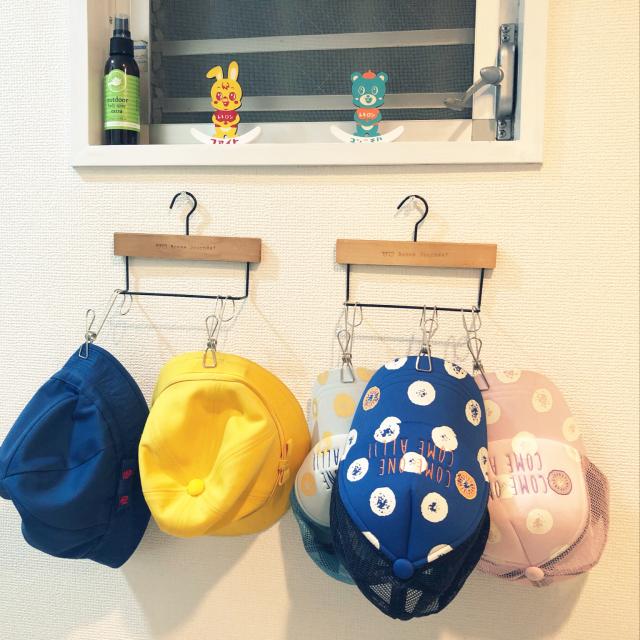 「子どももラクラク♪カタチを保つ帽子かけ」 by 141711mamaさん