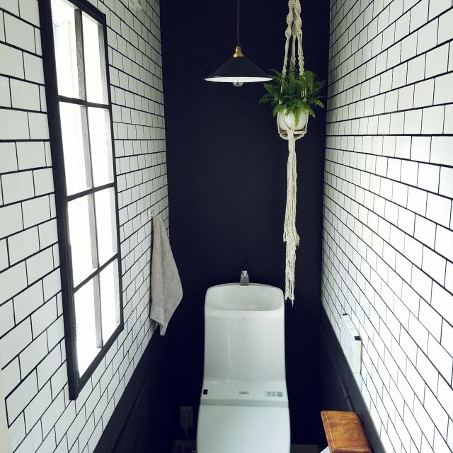 黒と白が作りだす魅力!モノトーンインテリアをトイレでも
