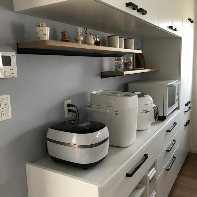 炊飯器やレンジはどこに置く?キッチン家電の置き方実例