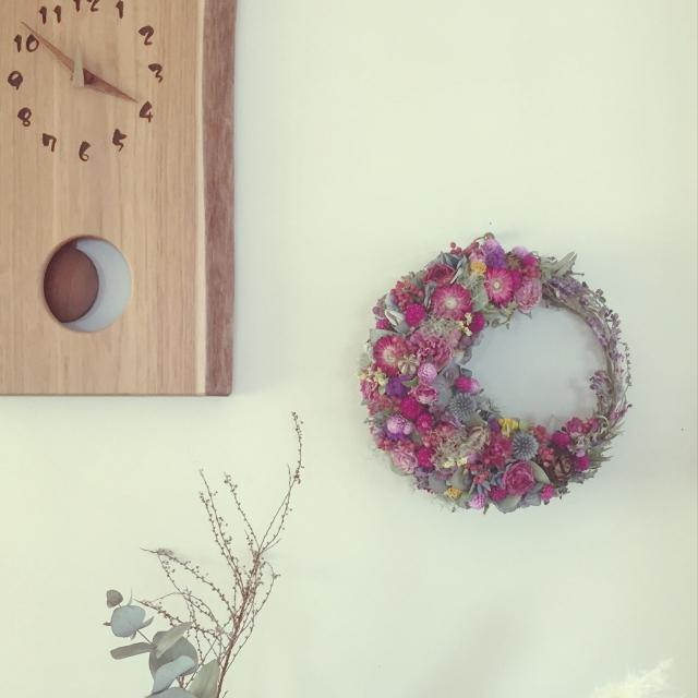 小花を集めて華やかに
