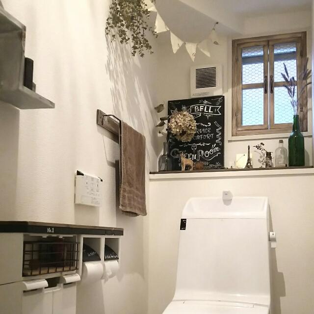 トイレを海外インテリアに!ドライフラワーのある暮らし