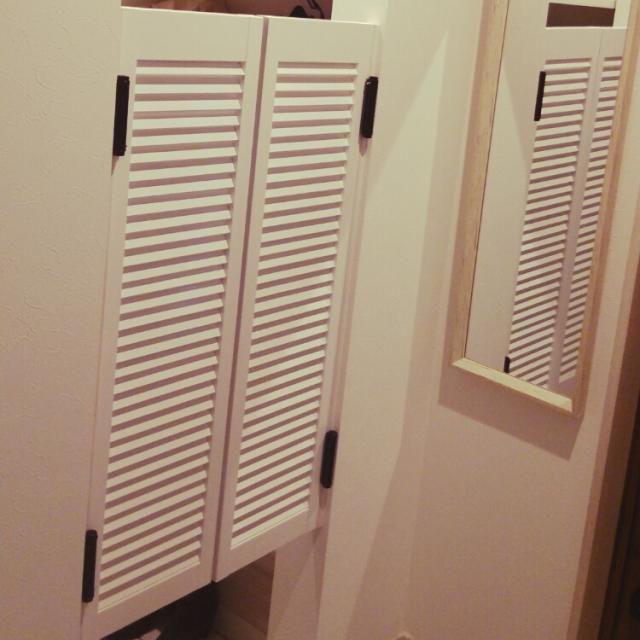 開閉簡単な扉で隠す