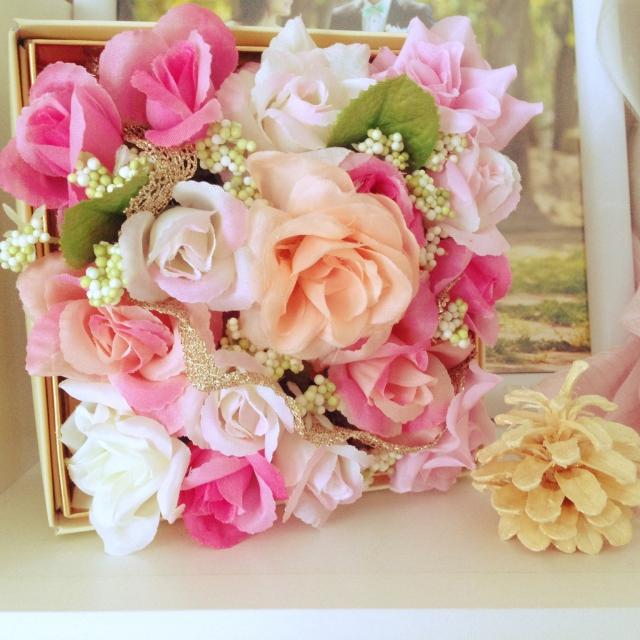 お花を詰め込んだフラワーボックス