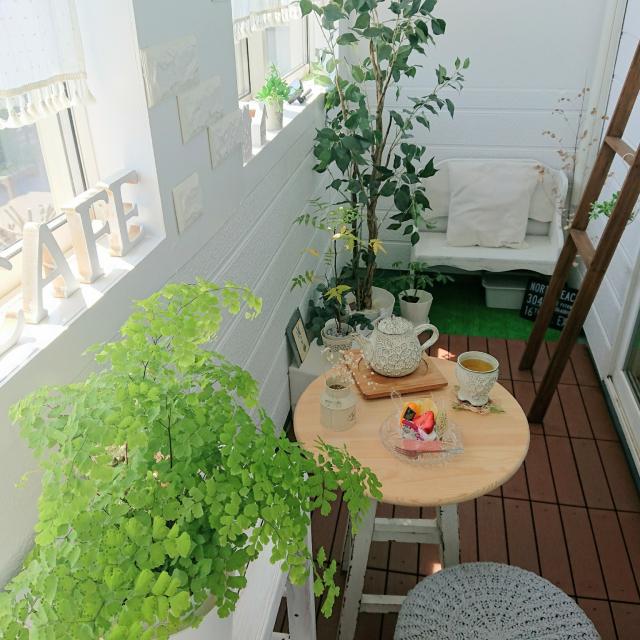お家でカフェ気分!ベランダカフェスペースの作り方