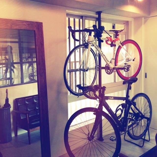 自転車のための玄関