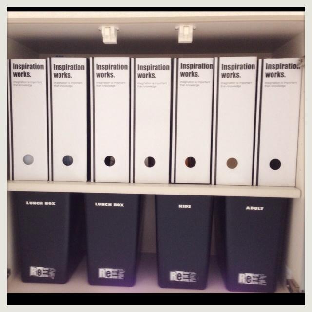 ダストボックス+書類ケース収納