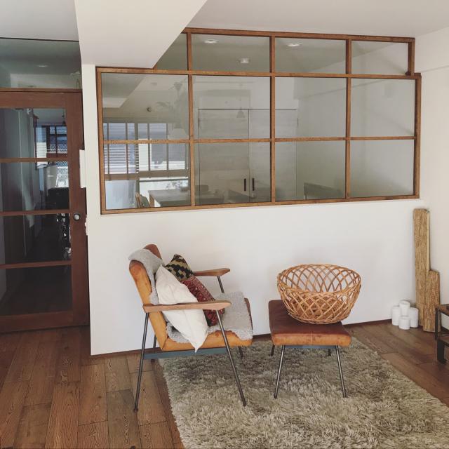 お家にラグジュアリーな雰囲気をプラス☆室内窓のある空間