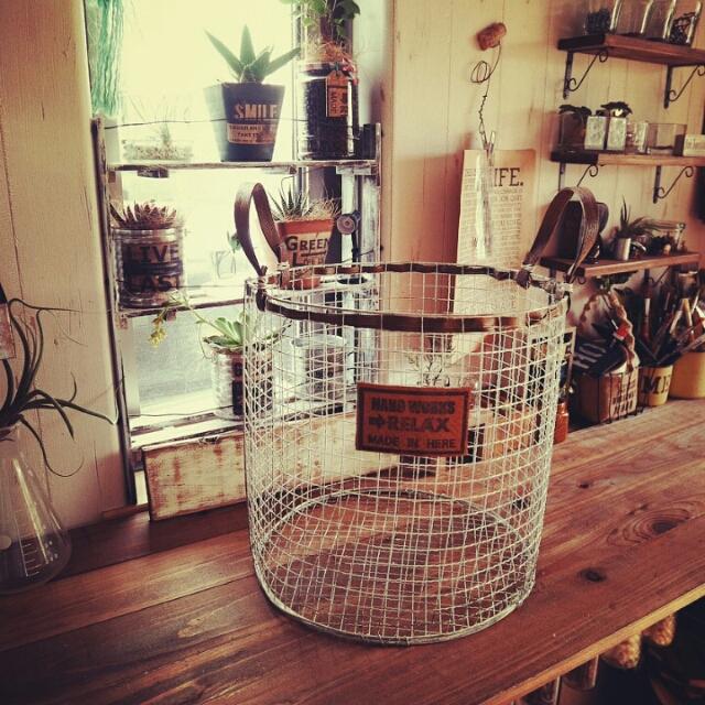 見せる収納にぴったり♪焼き網で本格ワイヤーバスケット by andante365さん