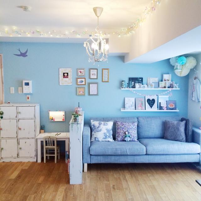 家具で、色で、部屋の形で、パリのアパルトマンを作る♪