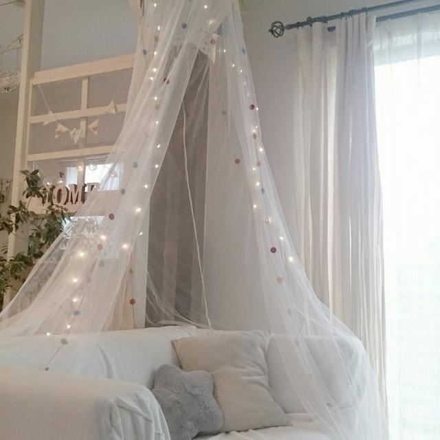 天蓋で特別感をプラス♡ベッドやキッズスペースでの活用法