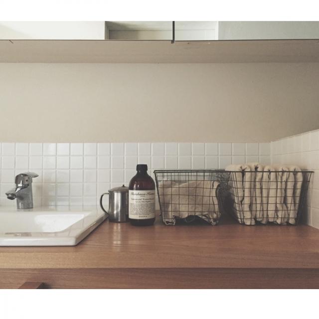 工夫次第で好印象☆洗面所のタオルの美しい置き方