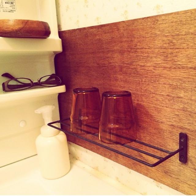 洗面台のコップ置きとして活用