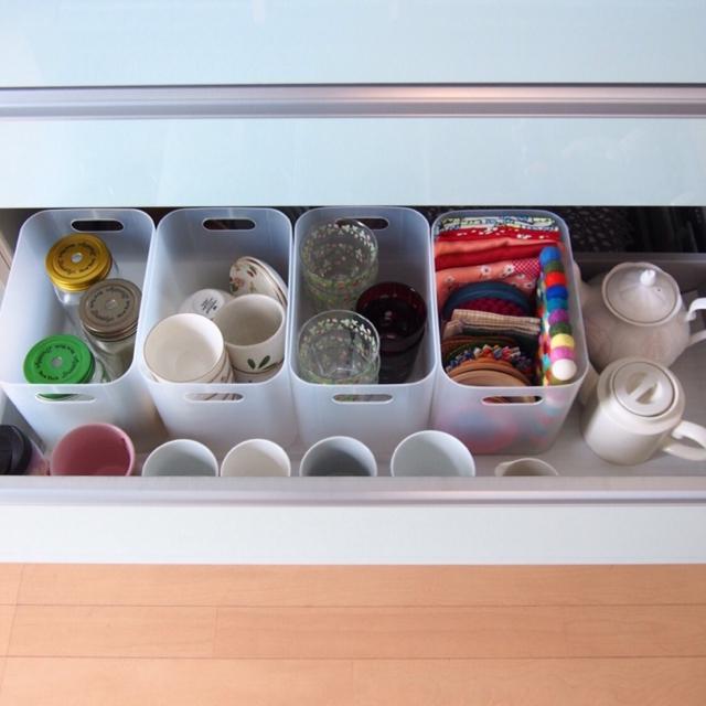 キッチンの引き出しに何入れる!?スペース有効活用術!