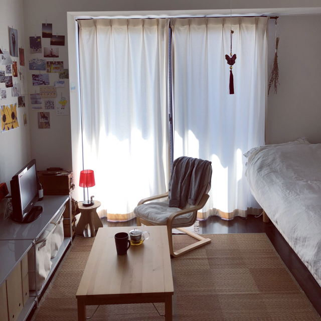 「24m2。自分らしさも快適も楽しむ、シンプルな1K空間」 by h_r_nさん