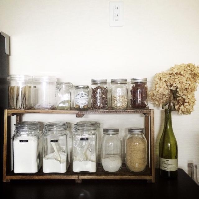 金具の付いた瓶は長期保存もできます。