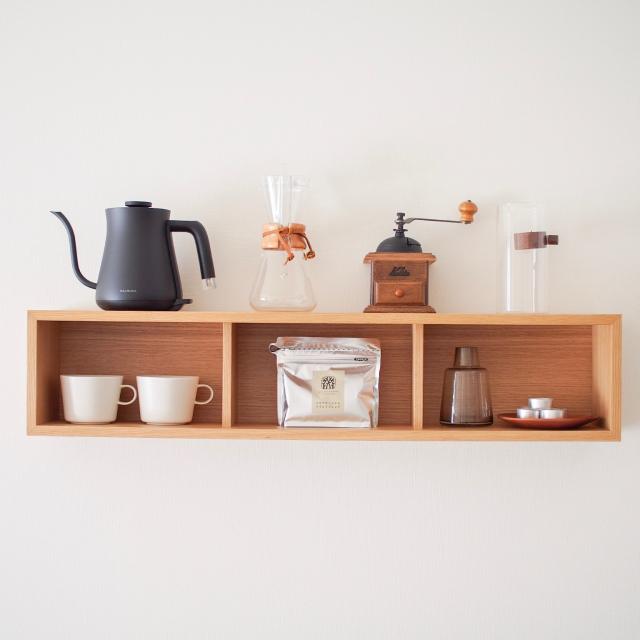 ここがコーヒーグッズの定位置!見て見て我が家の収納方法