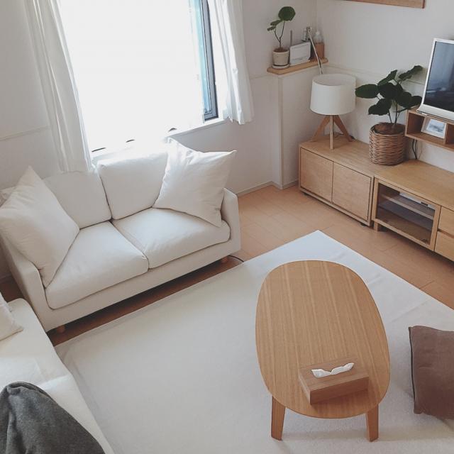 無印良品のソファを使って☆リラックスできるくつろぎ空間