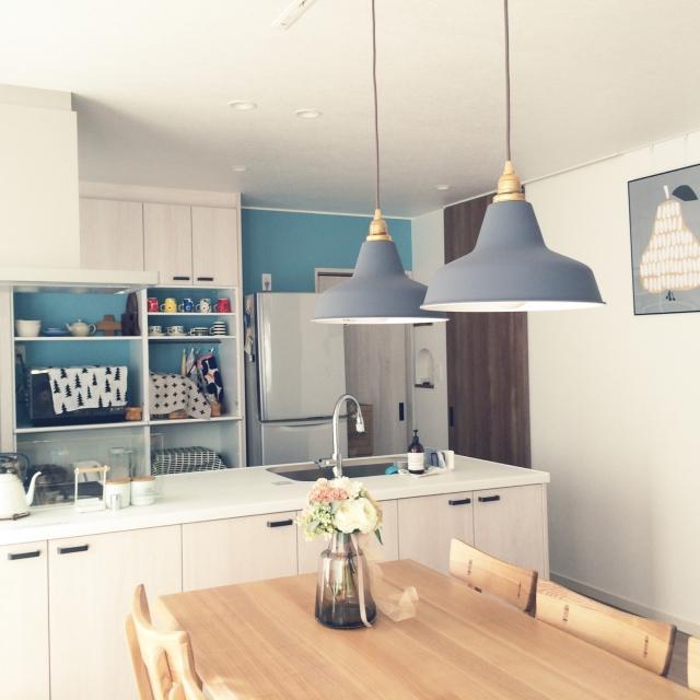 「北欧ブルーで魅せる。自分らしく、心が躍る空間の作り方」憧れのキッチン vol.123 eri_____i.mさん