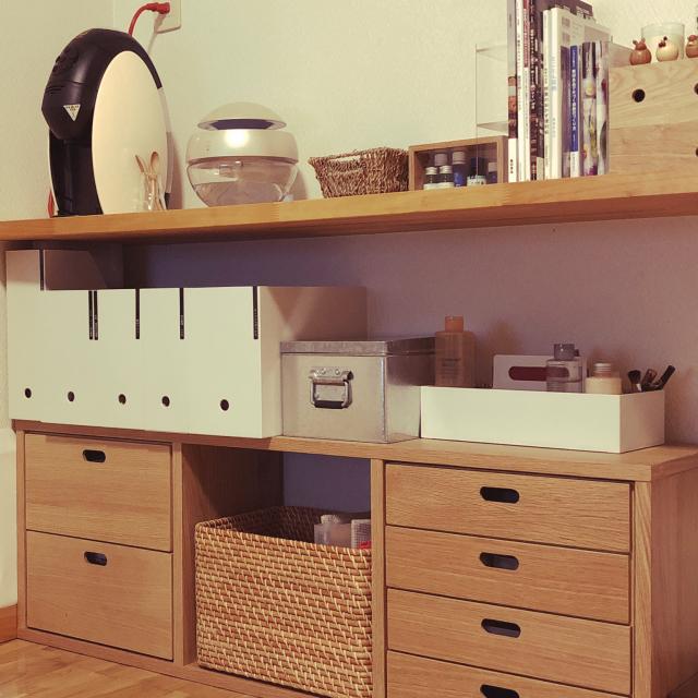 有効活用で収納力アップ♪キッチンカウンターの収納実例