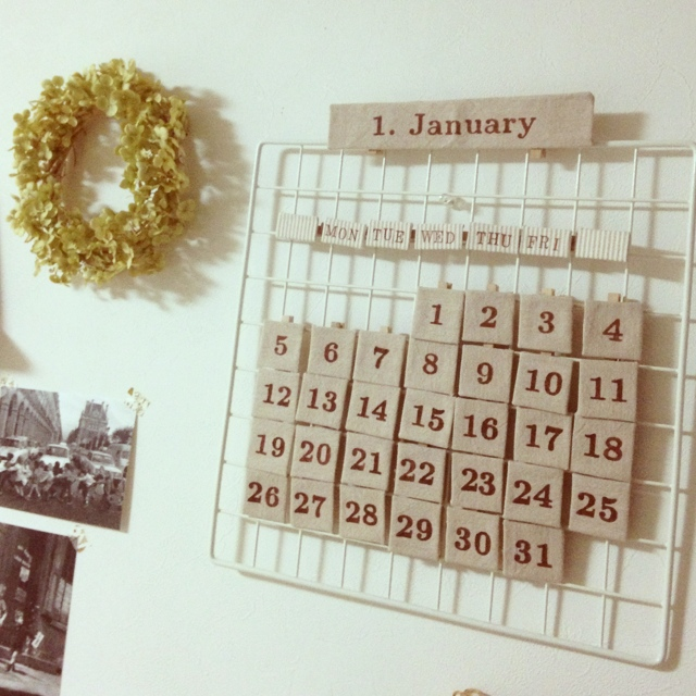 親子で楽しみながら作れるカレンダーです